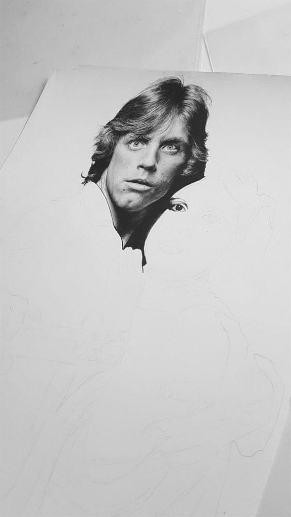 Star Wars Zeichnung von Joris Wagner