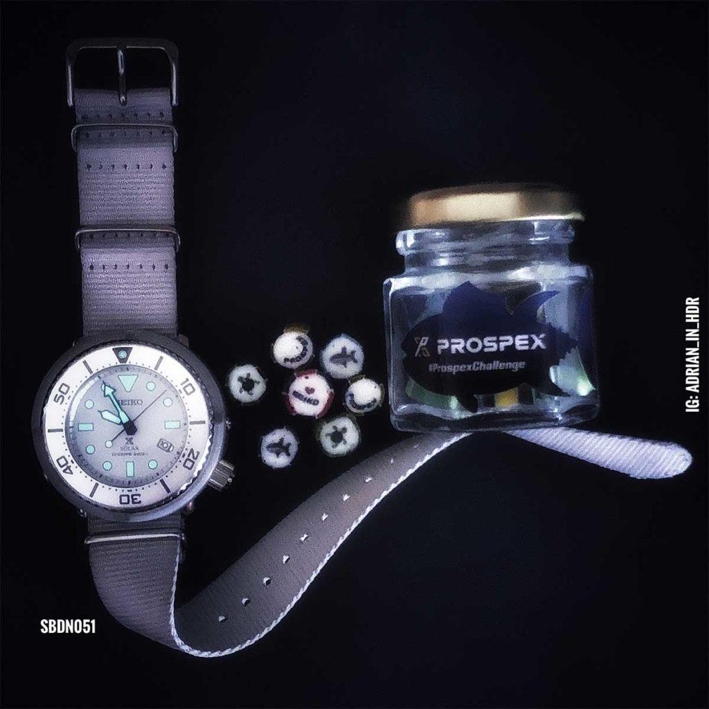 Seiko SBDN051: Diese nur in Japan veröffentlichte Exklusive Limited Edition Seiko White Baby Tuna ist eine der vielen Uhren, die iich n der Hour Boutique Singapore gekauft habe.