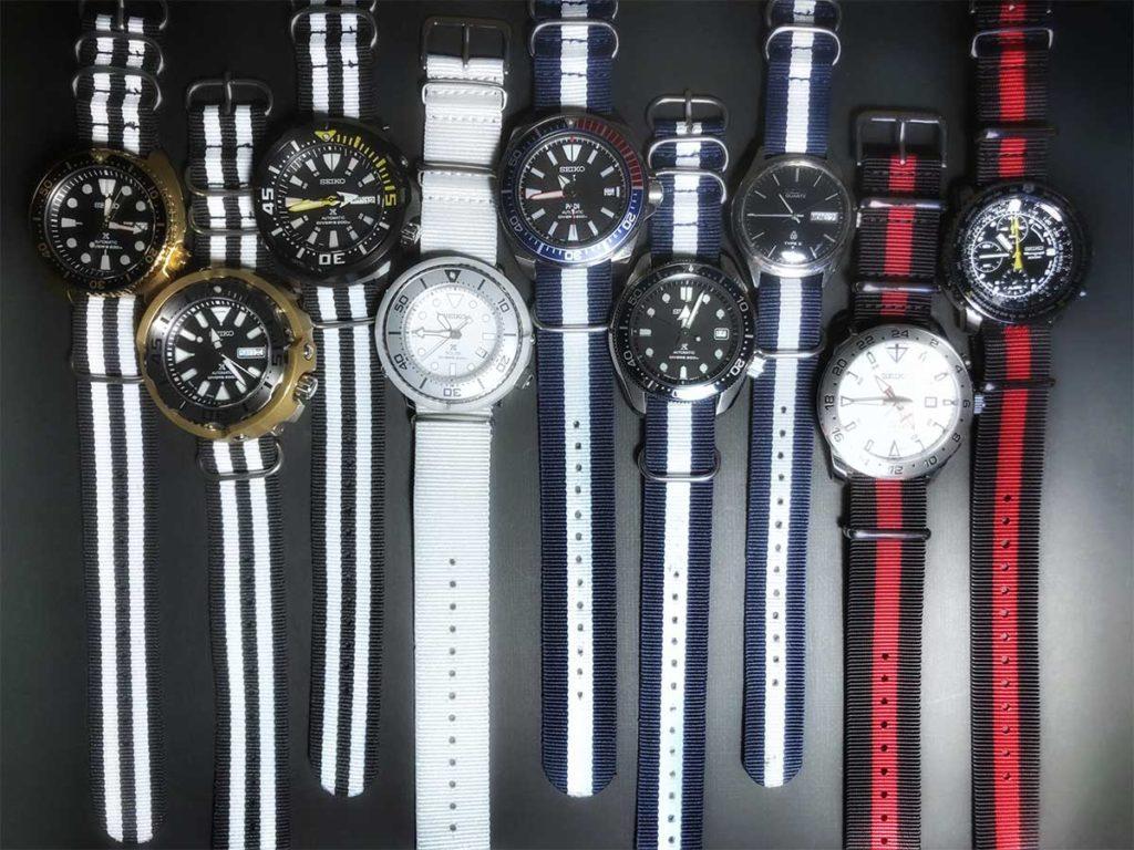 Ich besitze etwa ein Dutzend verschiedene Seiko-Uhren und habe viel Spaß daran, Fotos von ihnen zu machen.