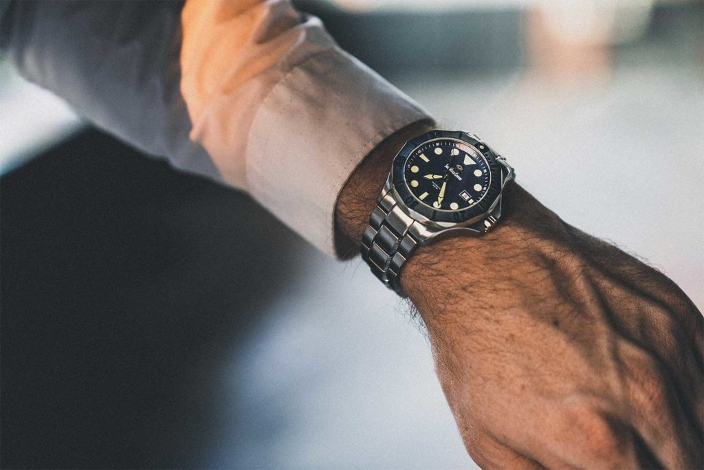 Black 300m Diver Swiss Made