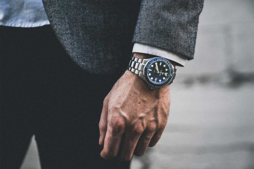 Blue 300m Diver Swiss Made