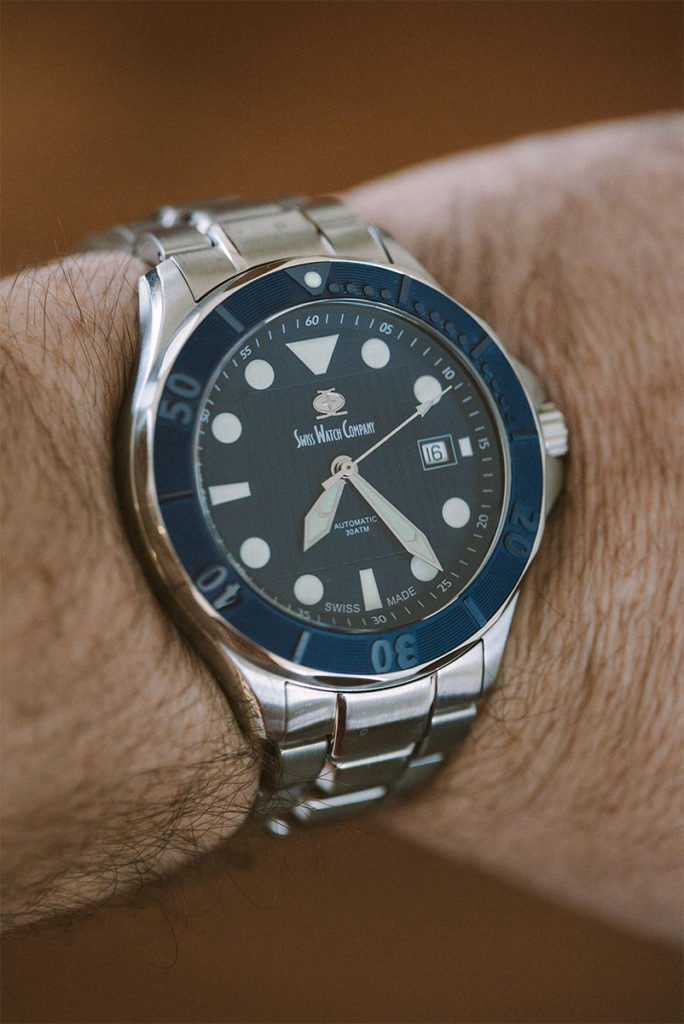 Swiss Watch Company blue Diver