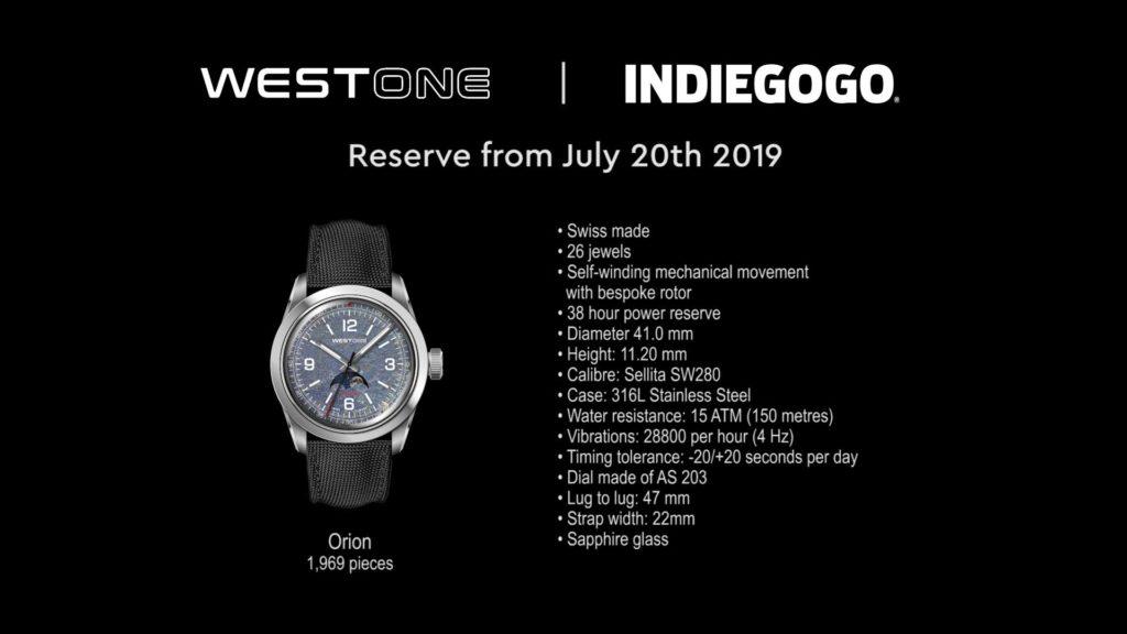 WESTONE Orion Watch