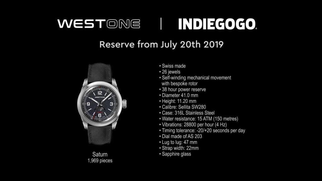 WESTONE Saturm Watch