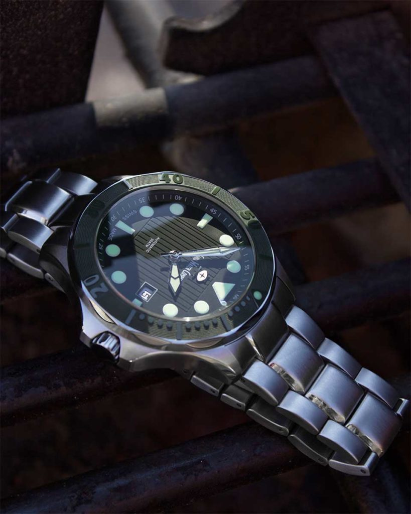 300m Diver green Swiss Watch Company