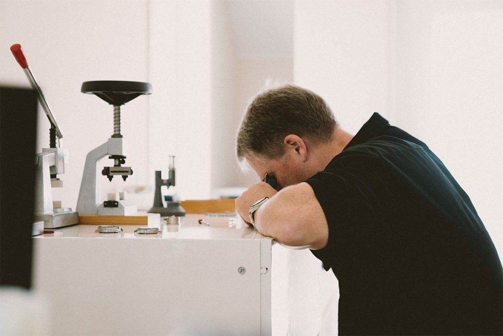 Stephen Roemer checks the Swiss Watch Company Watches