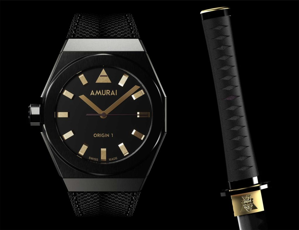 AMURAI Origin 1 Limited Edition - Absorbing Gold with nylon strap