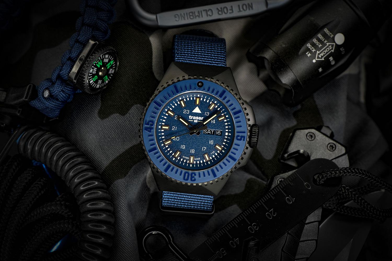 traser P69 Black Stealth blue NATO 109856