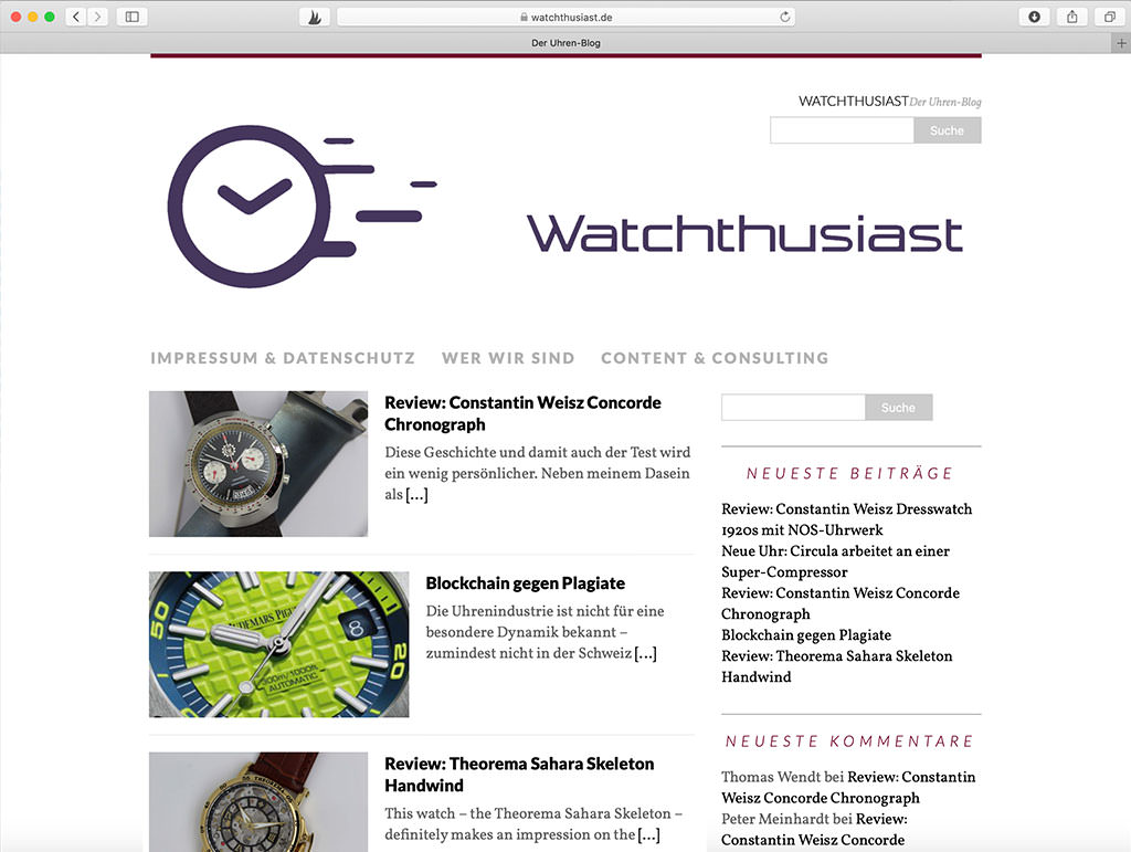 Uhrenblog Watchthusiast
