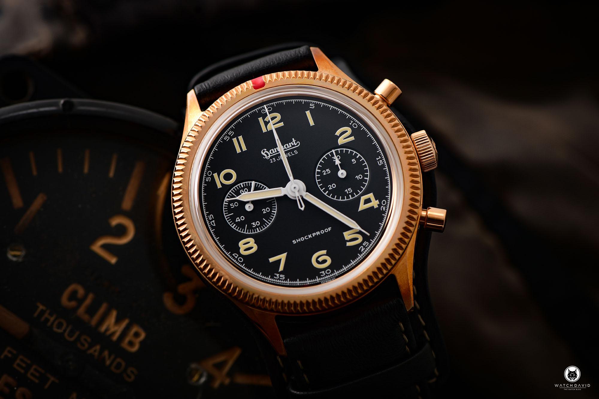 Hanhart Bronze 417 Flieger Chronograph - Hanhart X The Rake & Revolution