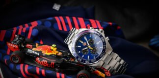 The TAG Heuer Aston Martin Red Bull is part of the Formula 1 collection that the Swiss watchmaker released together with Red Bull Racing. An exciting daily rocker with racer genes or rather something for die-hard Formula 1 fans? I took a closer look at the quartz chronograph for you. Your online store for luxury watches: the Uhrenlounge Nowadays, luxury watches from well-known manufacturers are usually bought on the Internet. Especially here it is important to find a suitable and reputable provider. This is where the Uhrenlounge comes into play. For this review, I once again collaborated with the online portal of Aika Juweliere Dresden, who kindly provided me with the TAG Heuer Aston Martin Red Bull. It's worth a look at the homepage! The Uhrenlounge carries more than twenty selected brands on their site, so everyone should find what they are looking for. You can also order TAG Heuer's Aston Martin Red Bull there. As always, you'll find all the important links at the end of this review!  Why you should watch Formula 1 again! At the moment it is worth to watch Formula 1. This is not only due to the world championship battle, which has gained in excitement again in the 2021 season, but also due to the advertising - right, the watch advertising. You can find them on boards, as sponsor stickers on the cars, and last but not least on the wrists of the drivers, pretty much every one of them is equipped with a luxury watch.  Watch brands and Formula 1 – that fits!. No wonder, precision, perfection and performance are probably characteristics that are highly appreciated on both sides. In recent years, this has led to more and more manufacturers finding their way into Formula 1. While Rolex, for example, is the main sponsor of the series, most racing teams also have a designated watch partner. Mercedes IWC, Ferrari and McLaren Richard Mille and four-time world champion Red Bull TAG Heuer. The traditional Swiss company and the Austrian racing team have been cooperating for se