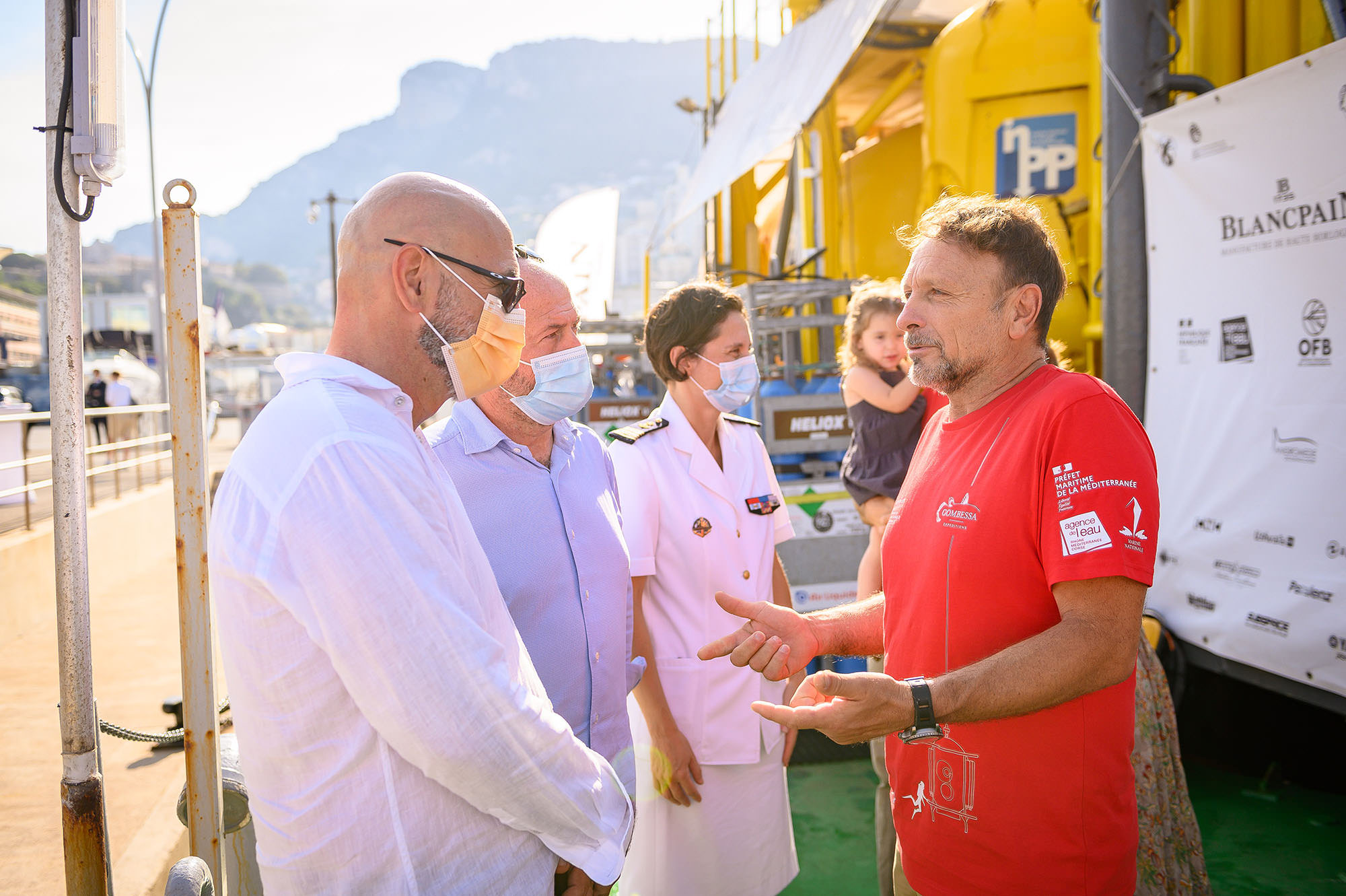 Marc A. Hayek (President & CEO of Blancpain) & Andrea Caputo (VP Head of Marketing) Roberto Rinaldi Gombessa VI