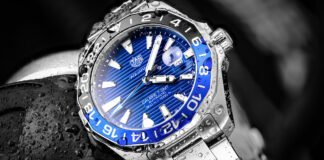 TAG Heuer Aquaracer GMT Batman Calibre 7 GMT