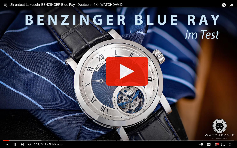 Uhrentest Luxusuhr BENZINGER Blue Ray - Deutsch - 4K Youtube